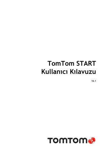 TomTom START 50 - PDF mode d'emploi - Türkçe