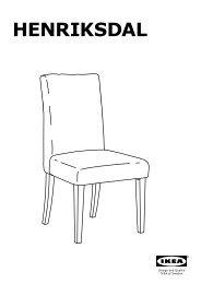 Ikea BJURSTA / HENRIKSDAL tavolo e 4 sedie - S09928260 - Istruzioni di montaggio