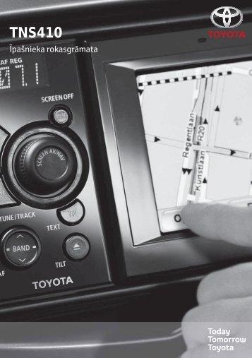 Toyota TNS410 - PZ420-E0333-LV - TNS410 - mode d'emploi