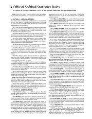 Official Softball Statistics Rules - NCAA