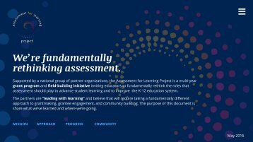 We're fundamentally  rethinking assessment