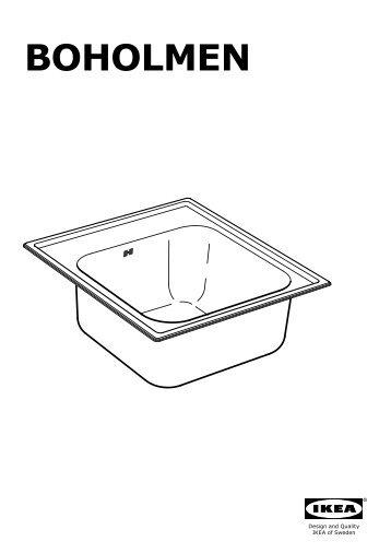 Ikea BOHOLMEN Lavello Da Incasso A 1 Vasca   S79896289   Istruzioni Di  Montaggio