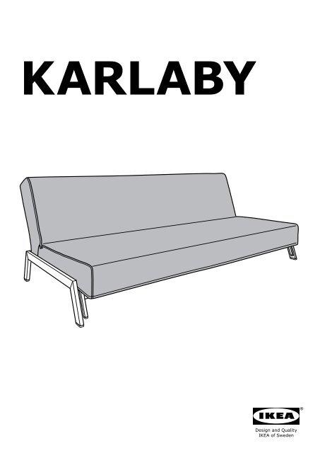 Ikea Divano Letto Kivik.Ikea Karlaby Fodera Per Divano Letto 80233208 Istruzioni