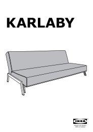 Ikea KARLABY fodera per divano letto - 80233208 - Istruzioni di montaggio