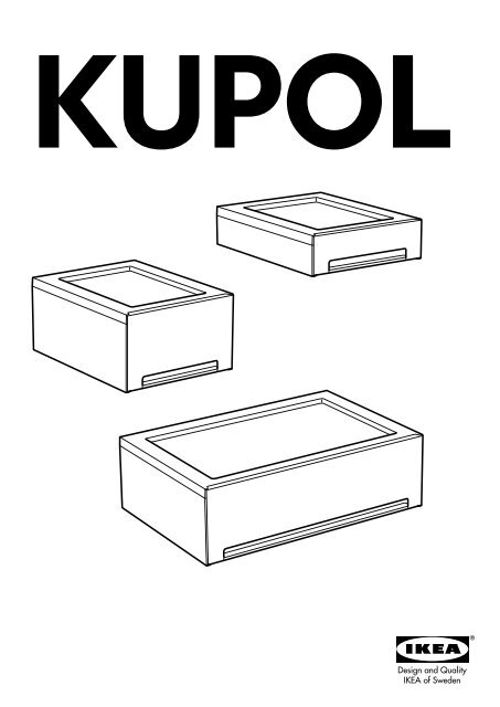 Ikea Kupol Cestelli Dispensa Estraibili S49903861 Istruzioni