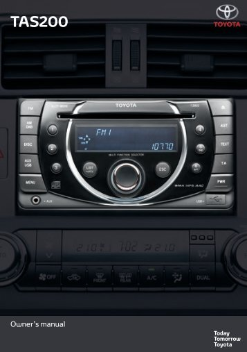 Toyota TAS200 - PZ420-00212-EN - TAS200 (English) - mode d'emploi