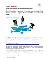 Global Radiation Hardened Electronics Market Trends, Growth and Application Analysis 2016: Hexa Reports