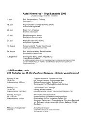 Orgelkonzerte 2003 - Klais Orgel, Abtei Himmerod