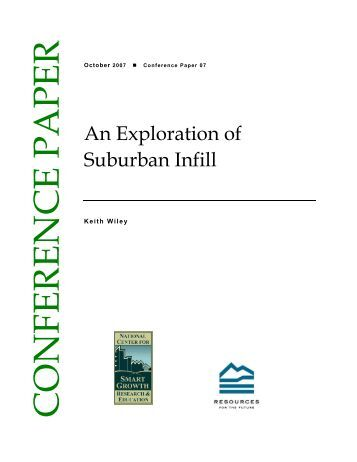 An Exploration of Suburban Infill - Resources for the Future