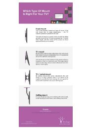 Which Type Of Mount Is Right For Your TV (Infographic)