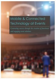 Mobile & Connected Technology at Events