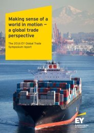 Making sense of a world in motion — a global trade perspective
