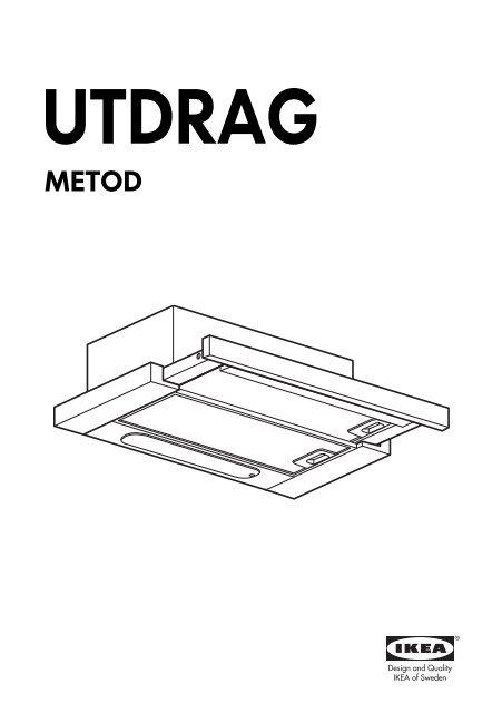 Ikea UTDRAG cappa aspirante da incasso - 20304623 - Istruzioni di ...