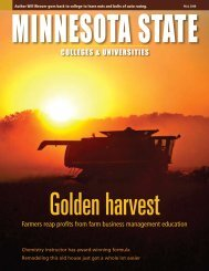 Minnesota State Colleges and Universities Magazine Fall 2008 Issue