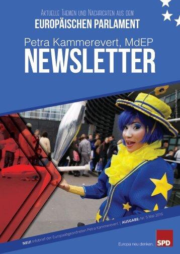 Infobrief der Europaabgeordneten Petra Kammerevert - Ausgabe: Mai 2016 Nr.5