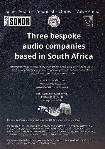 sonor audio brochure for flipbook