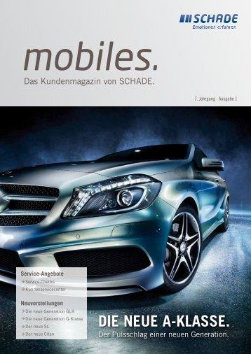"SCHADE Kundenmagazin ""mobiles"" 2012"