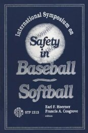 International Symposium on Safety in Baseball~Softball