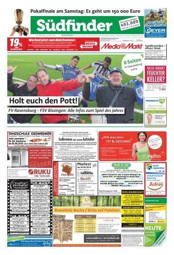 Südfinder   Extra-Ausgabe zum Pokalfinale