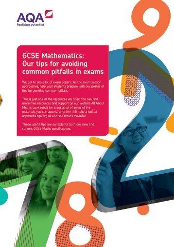 GCSE Mathematics Our tips for avoiding common pitfalls in exams