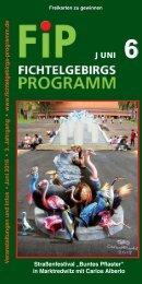Fichtelgebirgs-Programm - Juni 2016