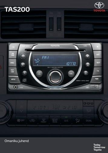 Toyota TAS200 - PZ420-00212-ET - TAS200 (Estonian) - mode d'emploi