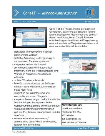 OnePager Wunddokumentation