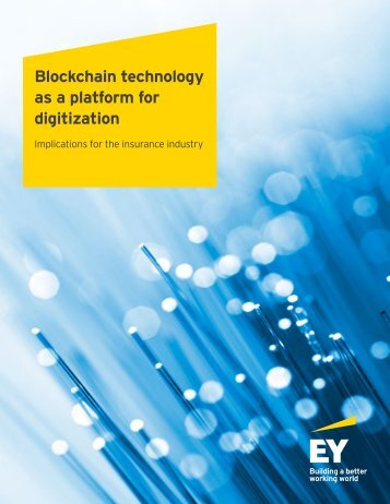 Blockchain technology as a platform for digitization