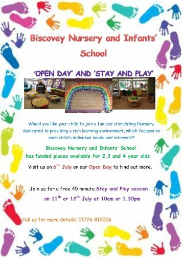 Open Day and Stay and Play