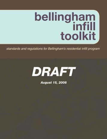 bellingham infill toolkit - City of Bellingham