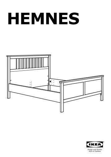 Hemnes struttura letto divano3 cassetti ikea camino t - Reti da letto ikea ...