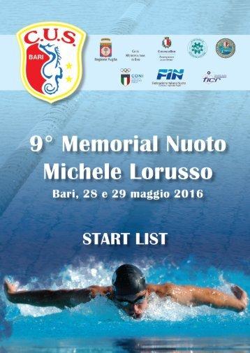 9° MEMORIAL MICHELE LORUSSO