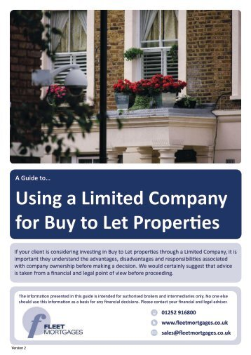 Using a Limited Company for Buy to Let Properties