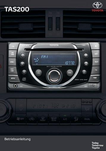 Toyota TAS200 - PZ420-00212-DE - TAS200 (German) - mode d'emploi