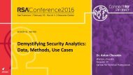 Demystifying Security Analytics Data Methods Use Cases