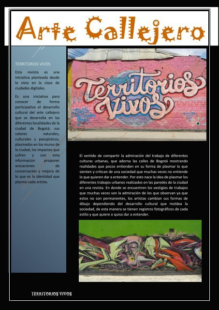 Revista Territorios vivos.
