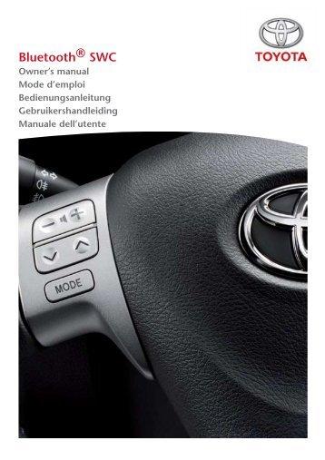 Toyota Bluetooth SWC English French German Dutch Italian - PZ420-00293-ME - Bluetooth SWC English French German Dutch Italian - mode d'emploi