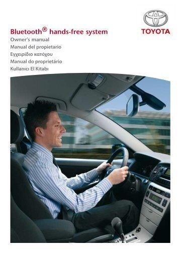 Toyota Bluetooth UIM English Spanish Greek Portuguese Turkish - PZ420-00292-SE - Bluetooth UIM English Spanish Greek Portuguese Turkish - mode d'emploi