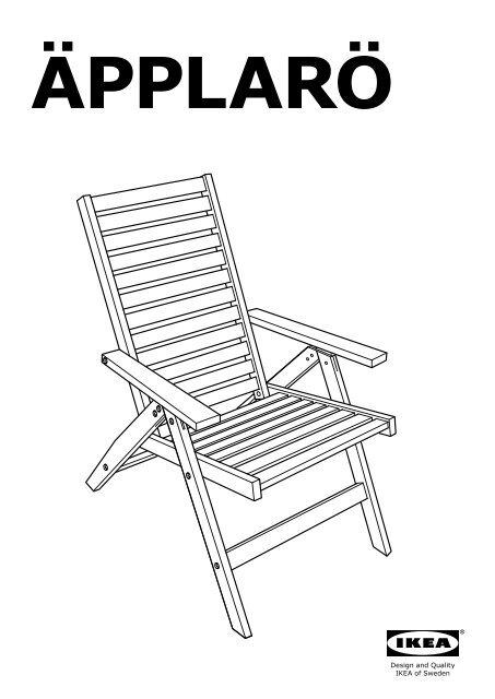 Ikea ÄPPLARÖ Sedia Reclinabile Da Giardino 70208539
