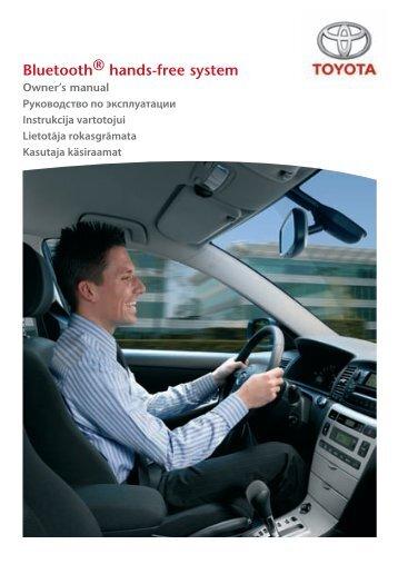 Toyota Bluetooth UIM English Russian Lithuanian Latvian Estonian - PZ420-00295-BE - Bluetooth UIM English Russian Lithuanian Latvian Estonian - mode d'emploi