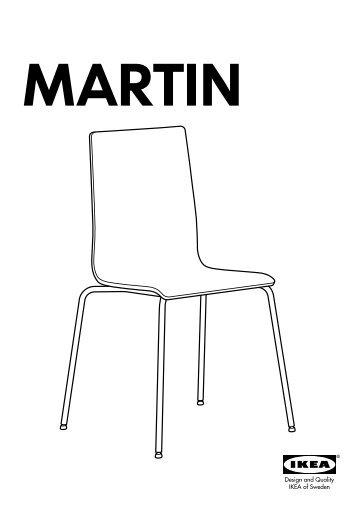 Ikea MARTIN sedia - S69903643 - Istruzioni di montaggio