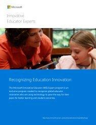 Recognizing Education Innovation