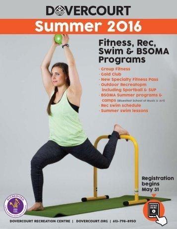 Dovercourt Summer 2016 Program e-flyer