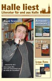 Januar 2010 - Halle liest - Projekte-Verlag Cornelius