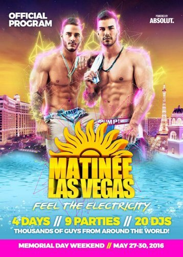 MATINEE VEGAS 2016 Official Program