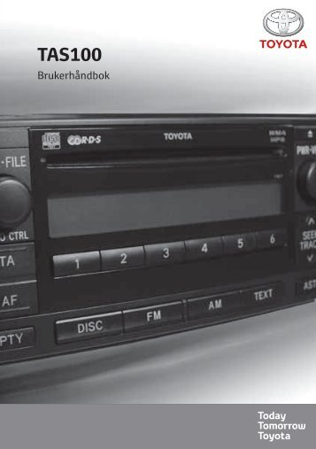 Toyota TAS100 - PZ49X-00210-NO - TAS100 (Norwegian) - mode d'emploi