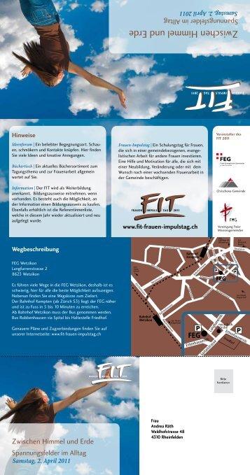 Samstag, 2. April 2011 - Vereinigung Freier Missionsgemeinden