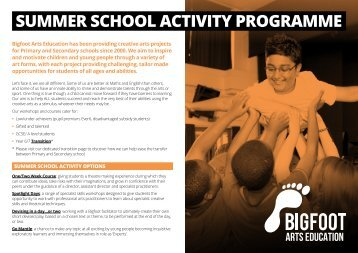 Summer School Activity ProgrammE