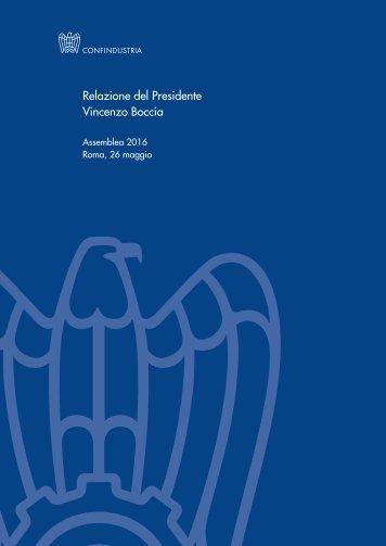 Relazione del Presidente Vincenzo Boccia
