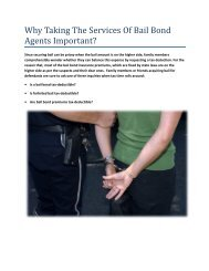 Why Taking The Services Of Bail Bond Agents Important